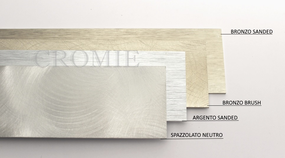 Battiscopa Slim Argento Sanded 6x100 cm